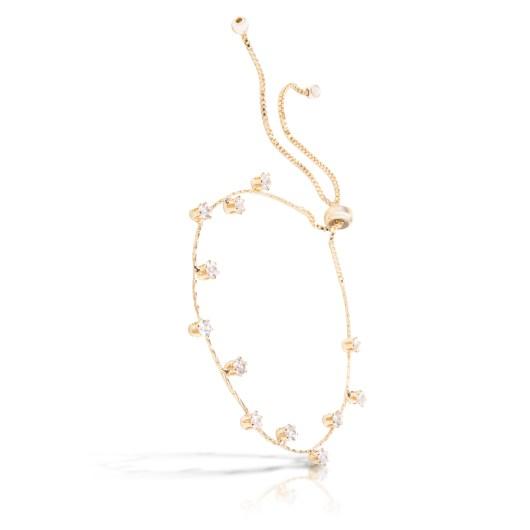 Droplet Pull-Cord Bracelet - Gold