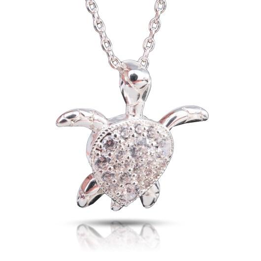 Sea Turtle Necklace - Silver
