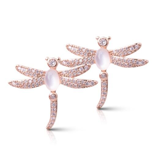 Dragonfly Earrings - Rosegold