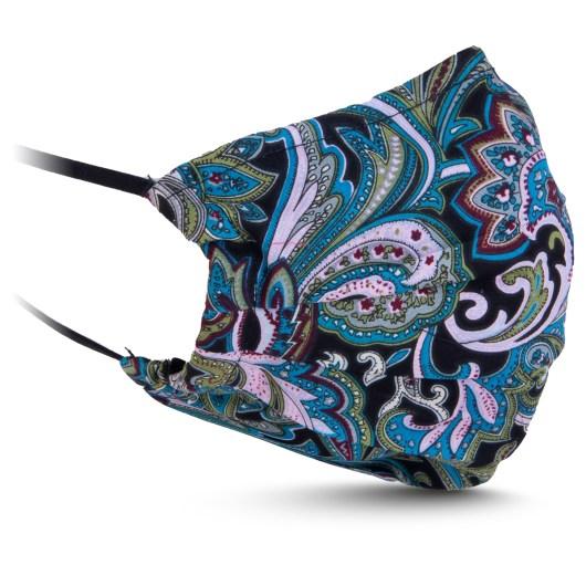 Fabric Mask - Teal/Green Paisley