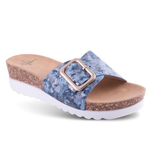 Farrah - Buckle Wedge Sandal