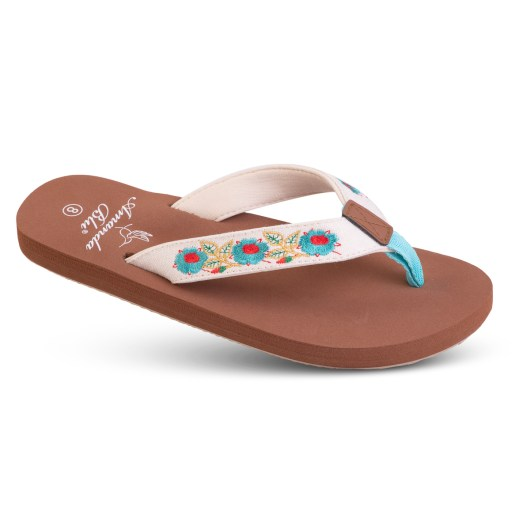 Alexis - Embroidered Soft-Step Sandal