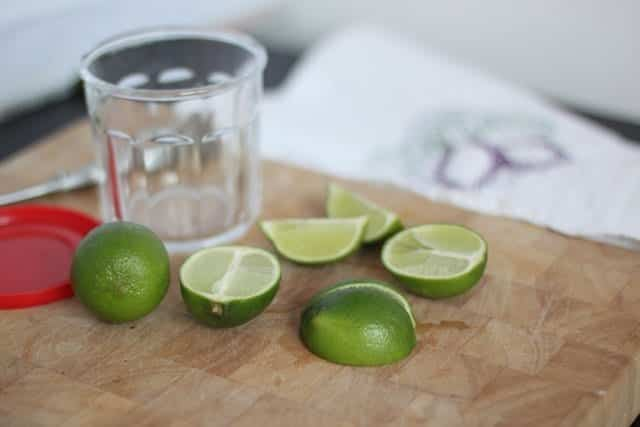 limes in honey step 1