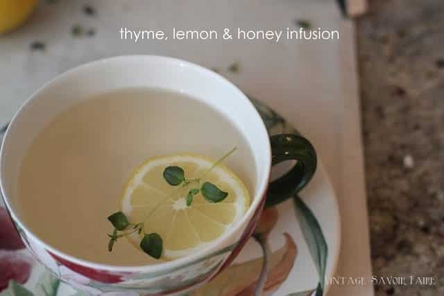 thyme, lemon and honey infusion