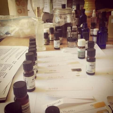 A quick instagram snap from our perfumery workshop (If you're on Instagram too, follow me, I'm @VintageAmanda)