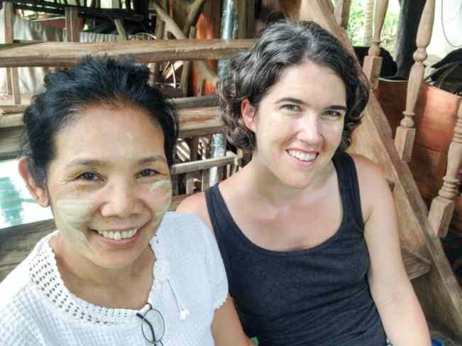 Amanda and Homprang with our Thanaka beauty treatments!