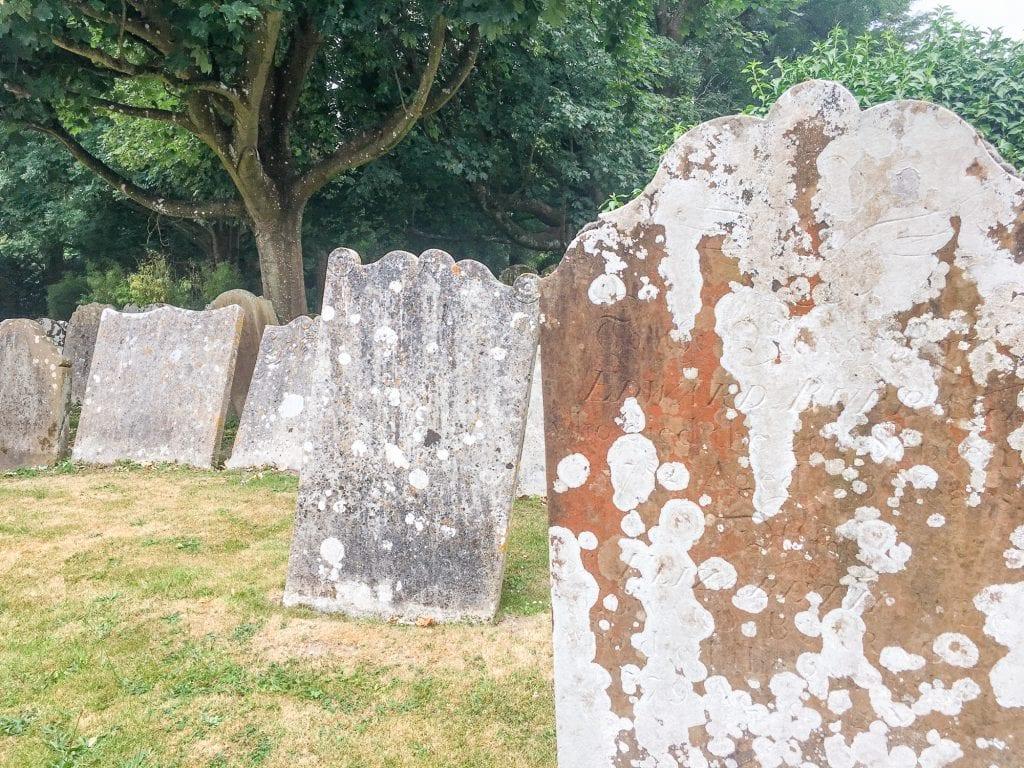 Gravestones at St. Mary's Church, Horsham