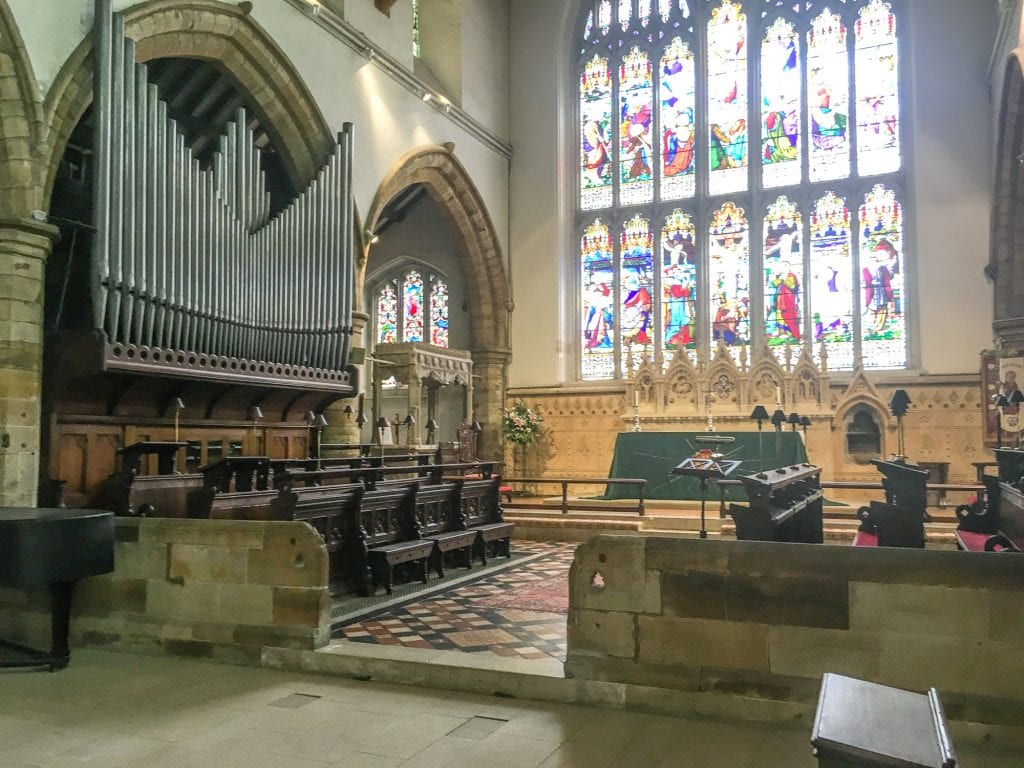 The organ at St Marys Church Horsham