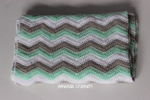 Chevron Baby Blanket 3 color 2