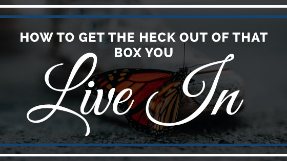 How to get the heck out of that box you live in