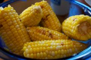 September 16, 2012. Boiled and buttered corn on the cob.