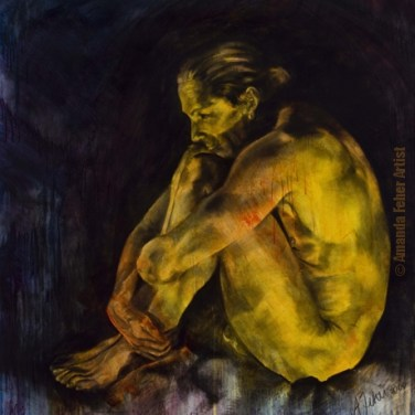 amanda_feher_painting_figurative_charcoal_Within_You