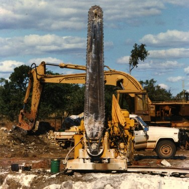 Machinery ready to cut the block at the Quarry in Chillagoe