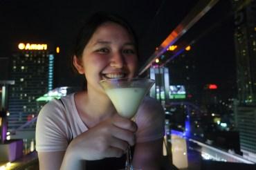 enjoying a tom yum cocktail