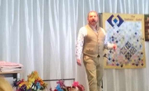 Stuart Hilliard speaking at the Quilters' Guild Conference 2015