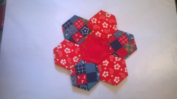 patchwork hexagons