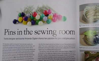 Pins in the Sewing Room article