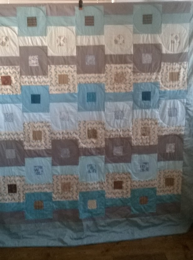 'Sea and Sand ' quilt by Amanda Jane Ogden