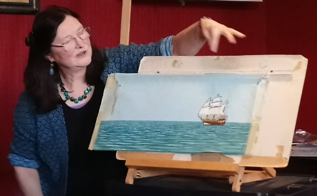 Captain Pugwash's ship, artwork copyright the Estate of John Ryan, photo used by kind permission of Isabel Ryan