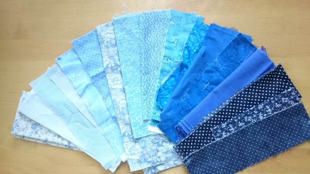 blue fabrics for Singing the Blues.JPG