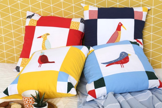 Indian Birds Cushions by Amanda Jane Ogden