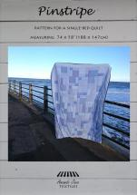 Pinstripe quilt pattern, cover, by Amanda Jane Textiles