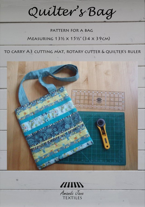 Quilter's bag pattern, cover, by Amanda Jane Textiles