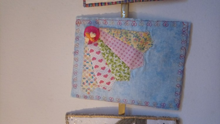 Quilted postcard