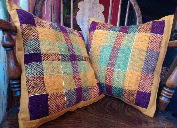 Ruth's woven cushions 1, photo by Amanda Jane Textiles