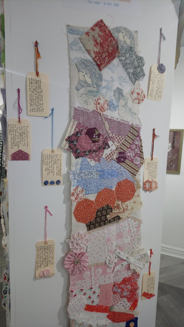 Art-work by Kath Price in the 'Threads' exhibition at the Frederick Street Gallery, Sunderland
