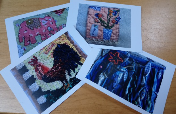 Postcards from 'Threads exhibition by Kath Price at Frederick Street Gallery, Sunderland