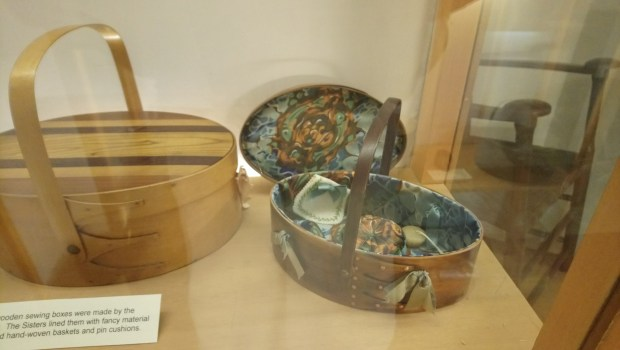 Sewing boxes from the American Museum, Bath