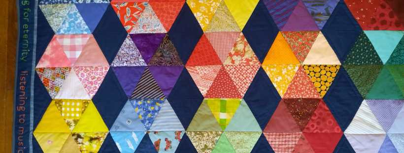 'Threaded friendship' quilt by Felicity Higginson, Alison Moore and Amanda Ogden