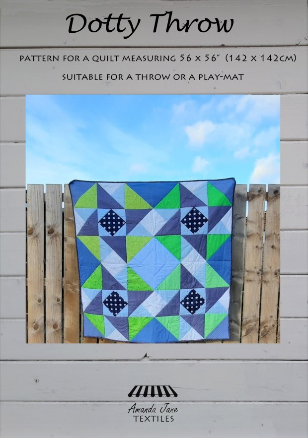 Dotty Throw quilt pattern by Amanda Jane Textiles