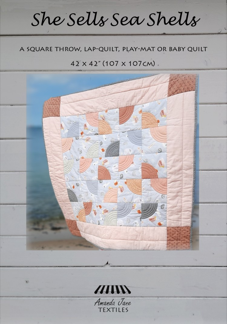 'She Sells Sea Shells' quilt pattern cover