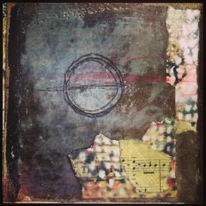 """Balance"" from my wordless encaustic journal."