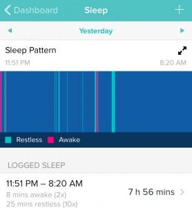 Fitbit sleep pattern