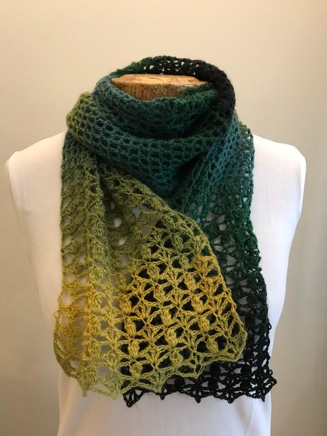 One Skein Crochet Scarf Free Pattern Amanda Jones Crochet