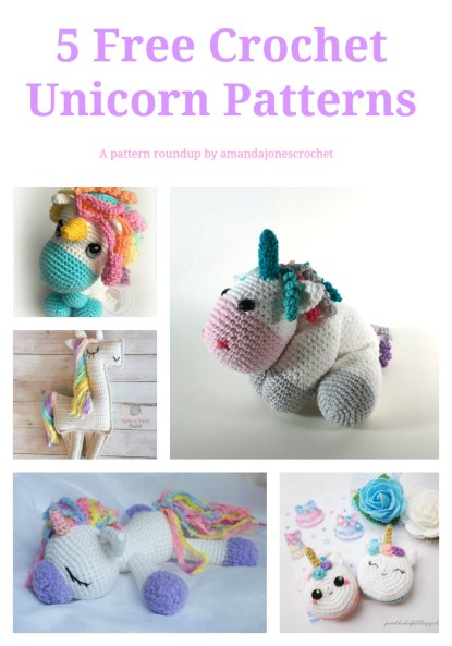Unicorn Pattern Round up by Amandajonescrochet