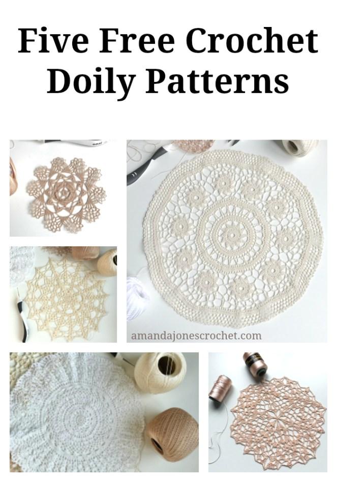 Five Free Crochet Doily Patterns Amanda Jones Crochet