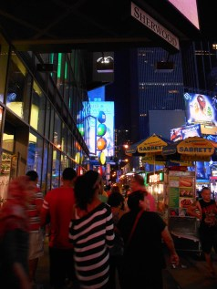 M&Ms store in Time Square at 10pm on 4th July.