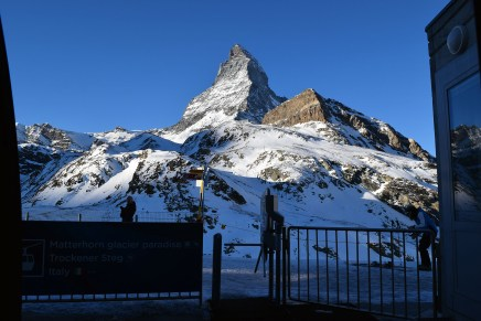 View of the Matterhorn from the first cable car stop.