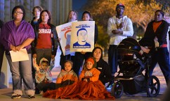 Protesters of all ages and races gather at the Sandra Day O'Connor U.S. Courthouse in Phoenix on November 25. Demonstrators rallied after it was announced that Officer Darren Wilson would not be indicted in the death of Michael Brown. (LaCasse/DD)