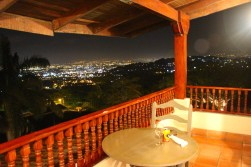 View of San Jose from my balcony at Alto Hotel, Escazu