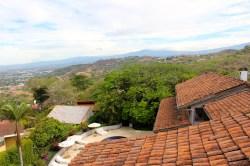 View from room balcony at Alto Hotel, Escazu