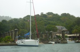 Sail House Pillars, Nelsons Dockyard