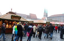 Masses of people shop Nuremberg's Christmas market each year.