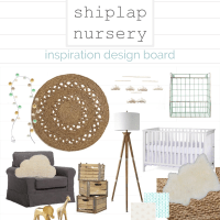 DESIGN  |  Neutral Nursery Design Inspiration featuring DIY Shiplap