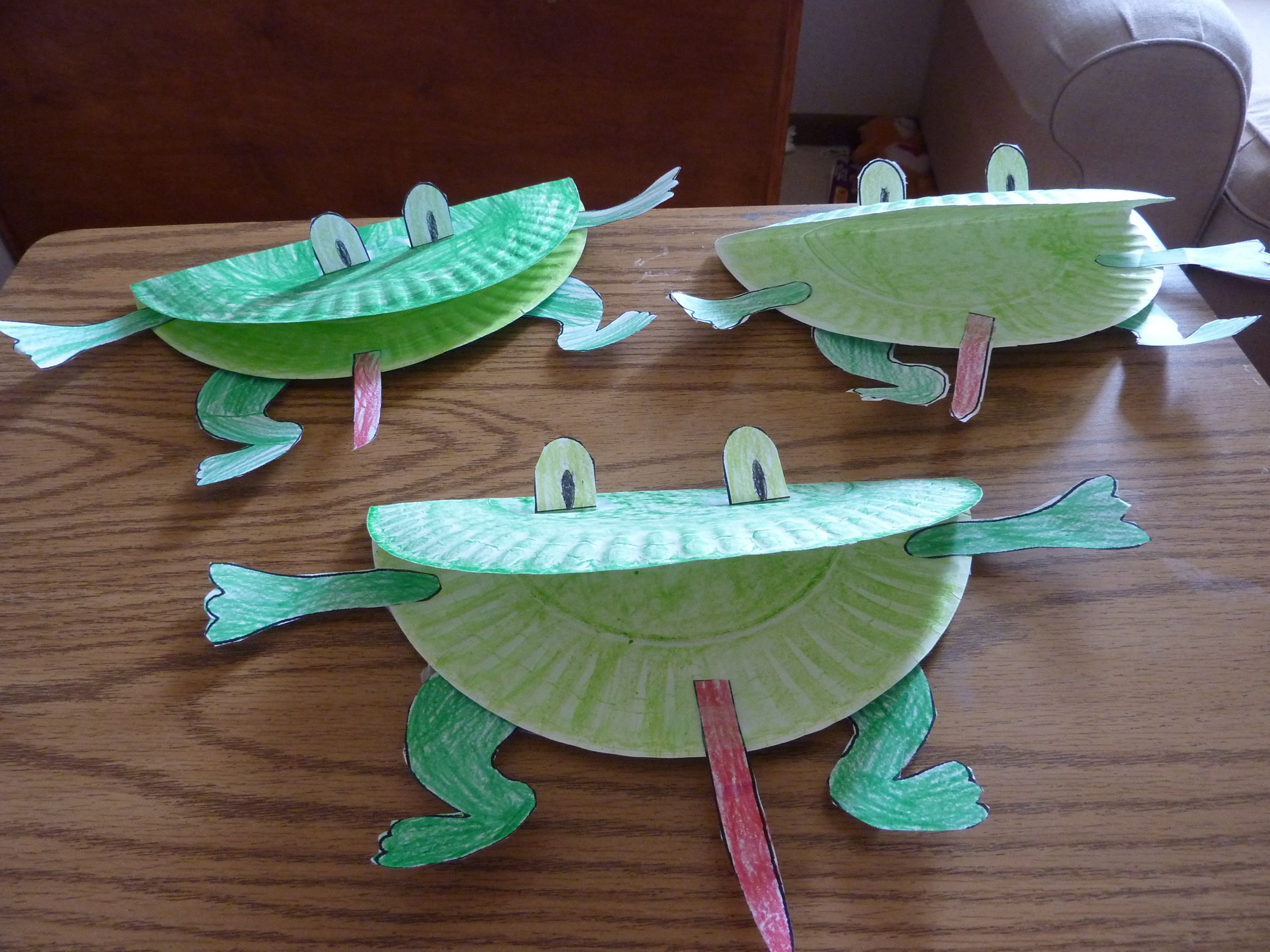 Frog craft amanda markel for Craft made by paper