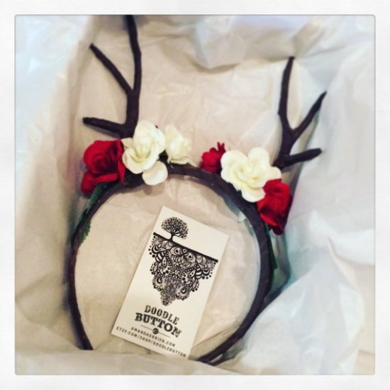 Deer Doe Flower Headband